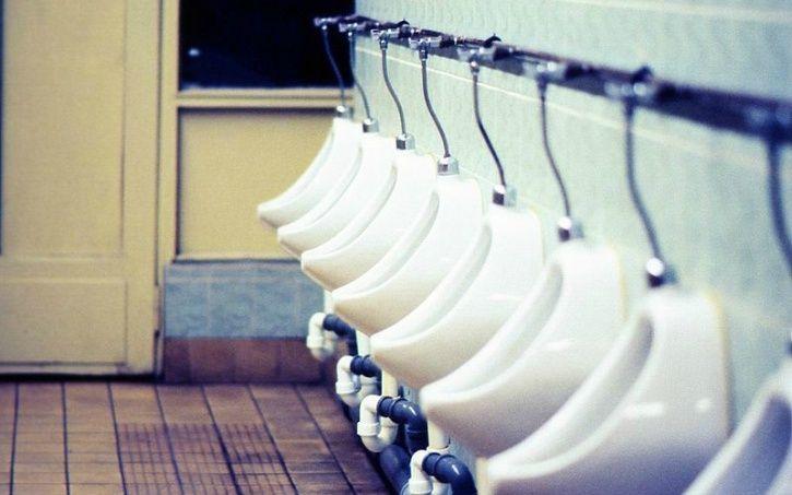 public urinals beaten
