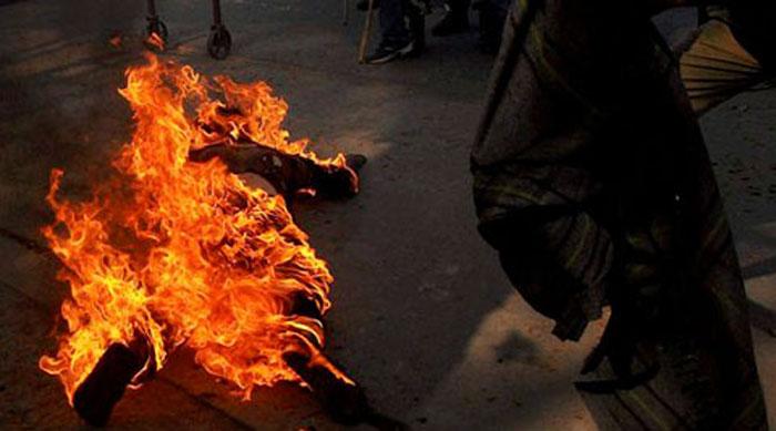Hyderabad Allegedly Sets Himself On Fire