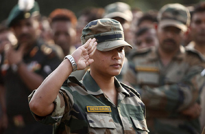 Woman Indian Army