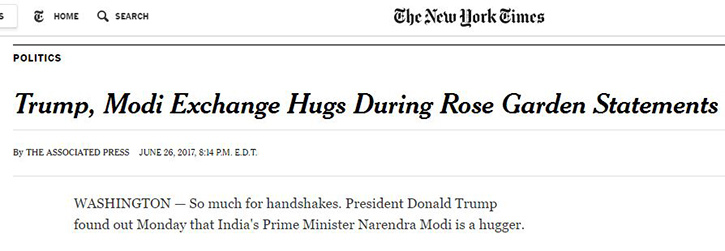 Modi higs trump