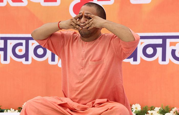 Yogi Doing Yoga