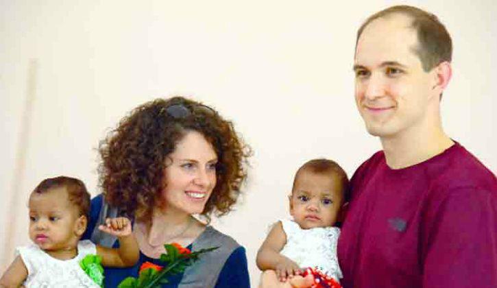 American Couple Adopts Twins