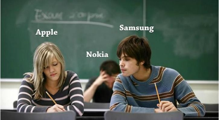 Apple iPhone meme - with Samsung and Nokia in tow