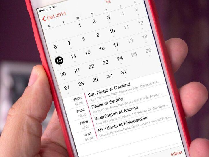 Schedule your activities/agendas/errands in your phone calendar