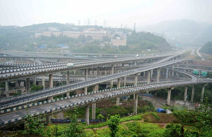 overpass in China