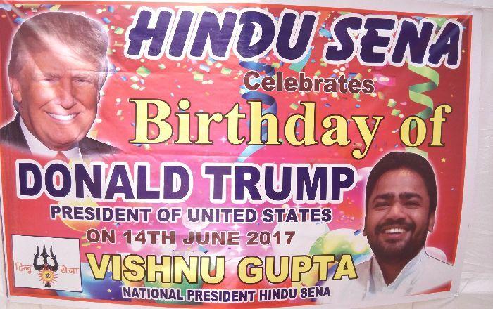 Hindu Sena Celebrates Birthday Of Donald Trump