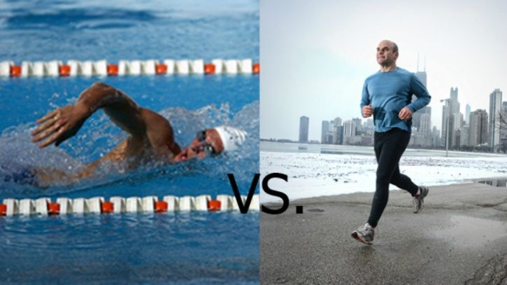 Both running and swimming are great for losing weight, improve your cardiovascular health and help in disease prevention in the long run.