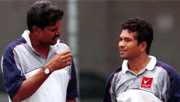 Kapil dev and Sachin