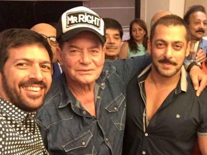 Salman and Salim Khan with director Kabir Khan