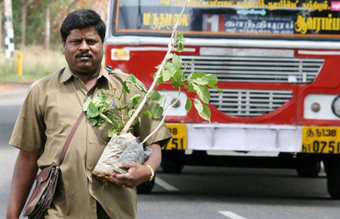 Bus conductor Yoganathan