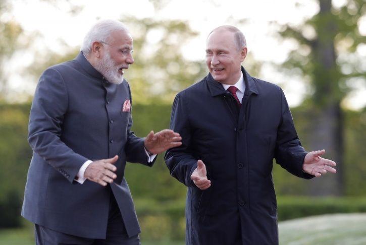 Modi Putin Friendship