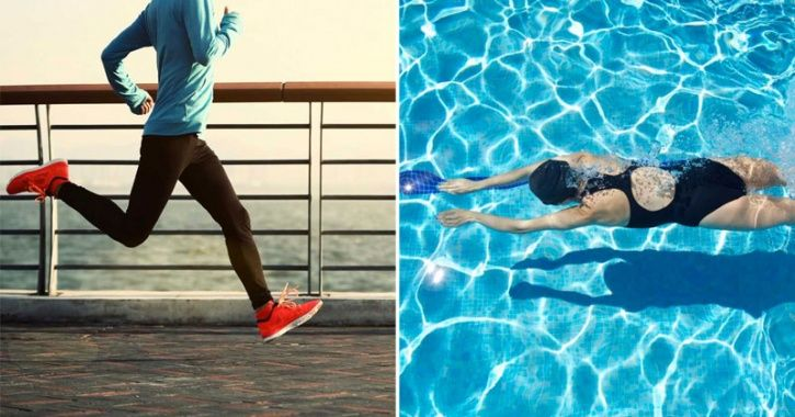 Although both running and swimming are great ways to burn calories, like most exercises they are have their own pros and cons