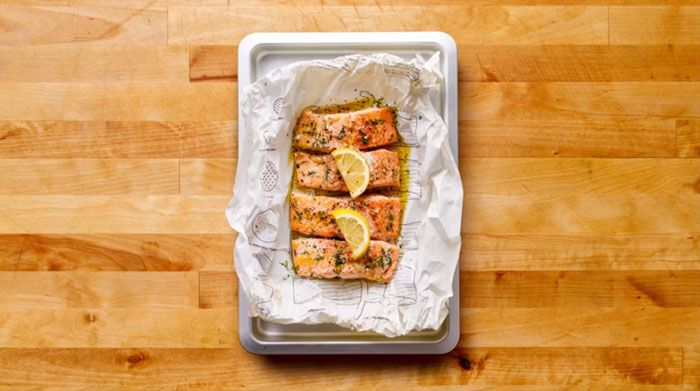 Salmon with lemon and herbs recipe IKEA Cook This Page