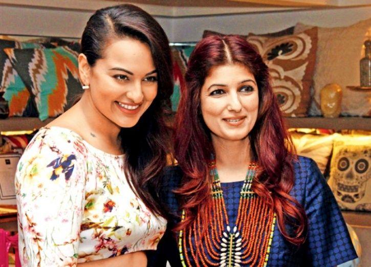 Sonakshi and Twinkle Khanna