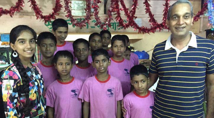 S Hariharan with the kids at his protective shelter