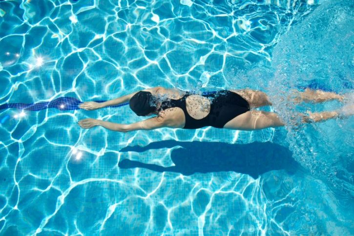 Swimming is the ideal full-body workout as it works your entire body and is easier on your joints; this works well especially if you have joint or other chronic disorders. It does, however, take a certain amount of skill to learn how to swim and you do require a pool that is convenient enough for you do so regularly