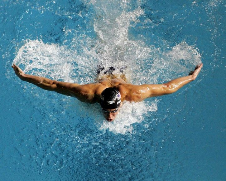 Swimming on the other hand works on the lower body and the core, as well as the muscles of the upper body; including your arms that you use to pull yourself through the water