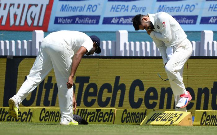 Injured Virat Kohli