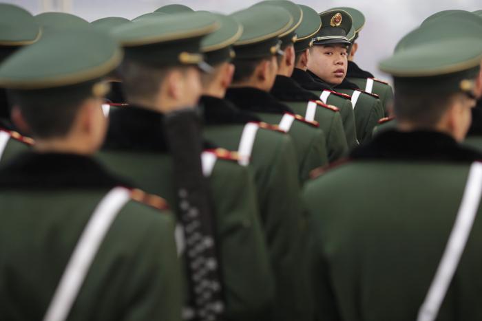 China Paramilitary policemen