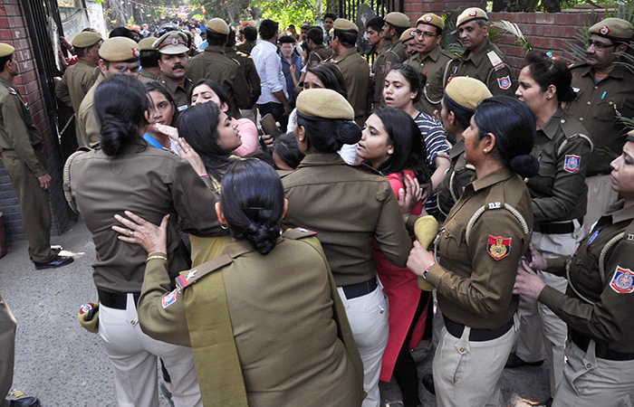 Student Fighting in DU