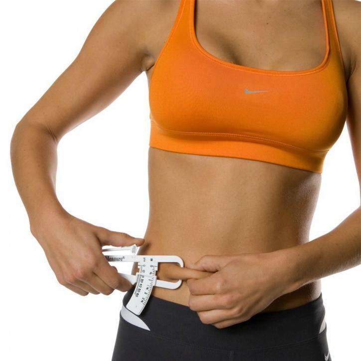 Use a body fat caliper for accurate results