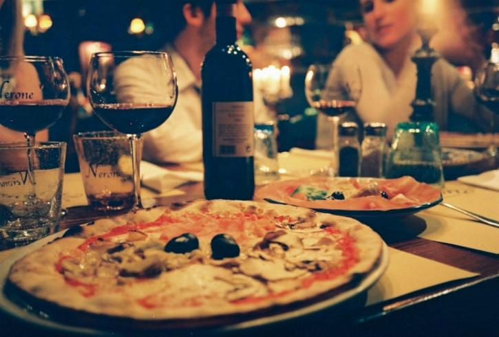 Italians grow up eating rich healthy Mediterranean food