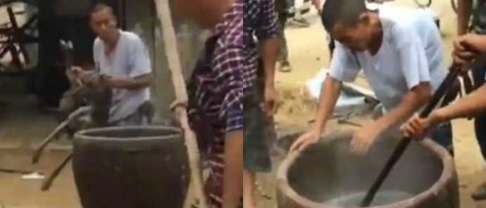 dog boiled alive in China