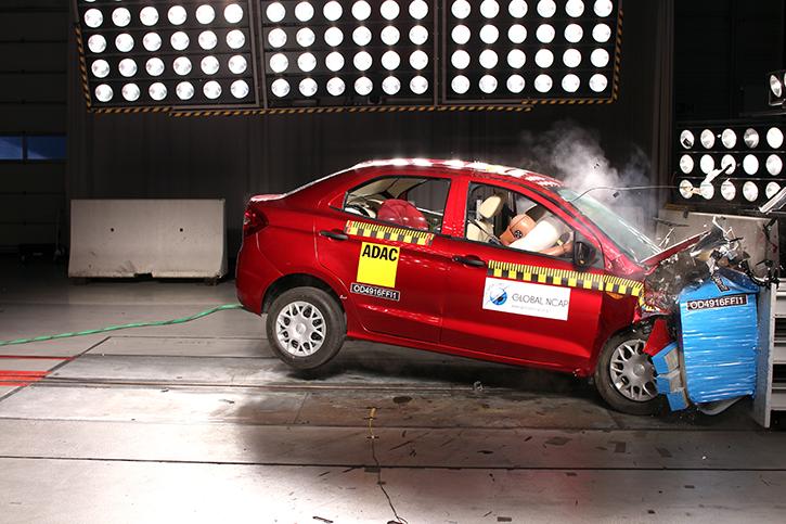 Ford Aspire Figo crash test