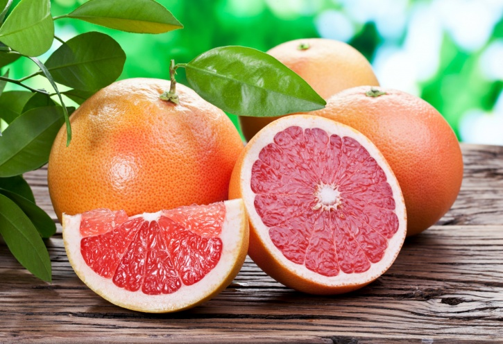 Drugs for lowering cholesterol along with grapefruit
