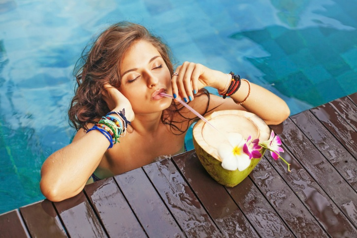 Coconut water hydrates