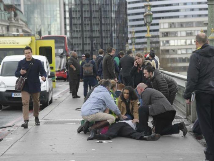 White man passing the London attack scene