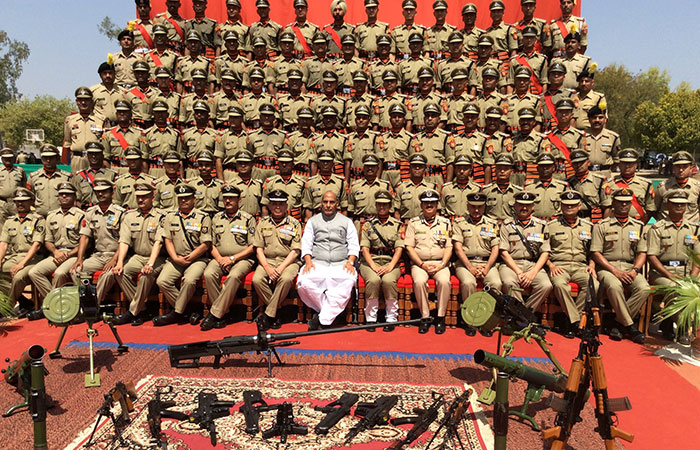 Rajnath Singh with BSF