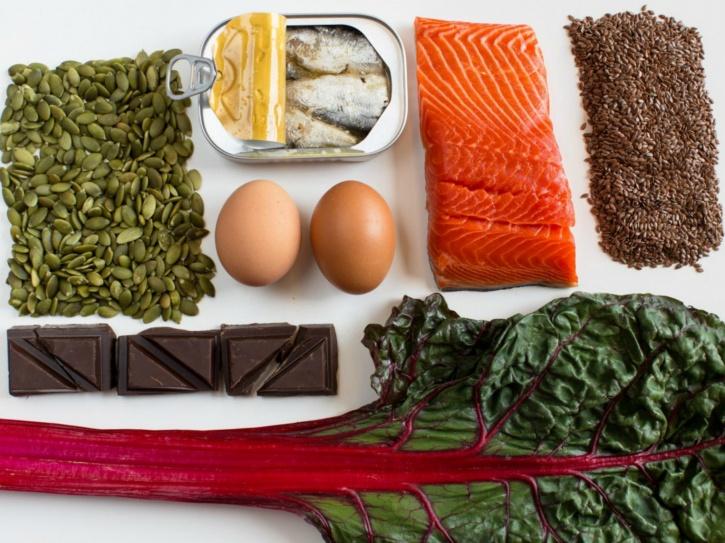 Foods dense in nutrients, instead of calories