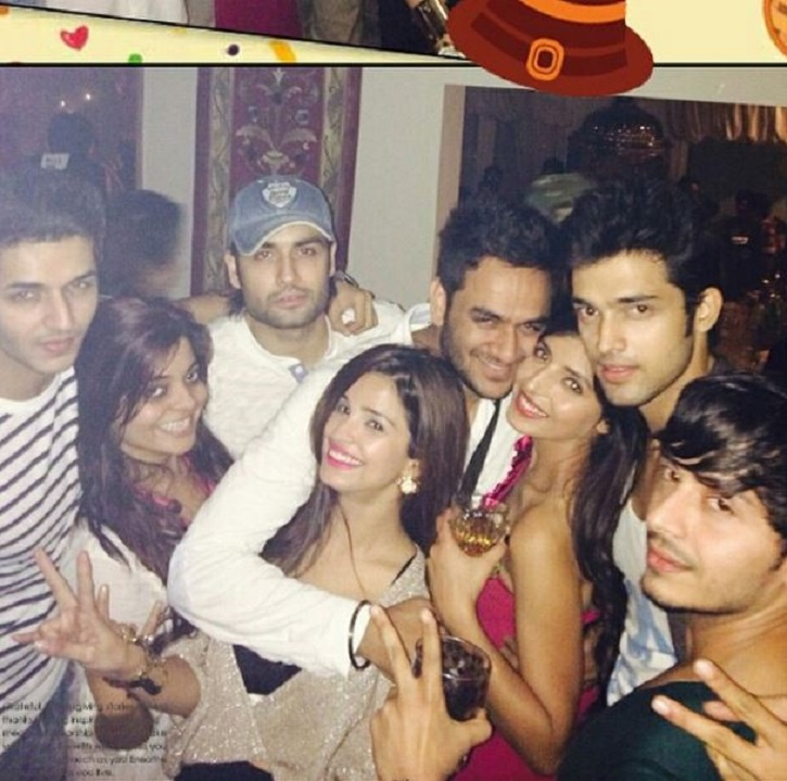 Parth Samthaan with friends