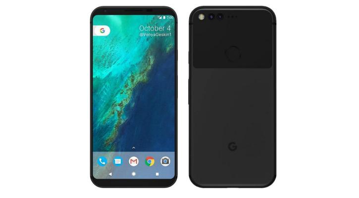 Concept render of the Google Pixel 2 - Benjamin Geskin
