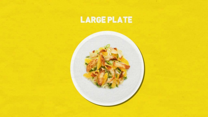 the size of your plate reduces the amount of food you eat