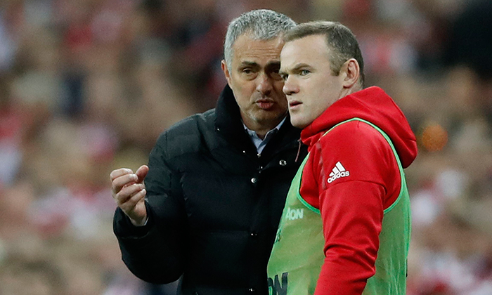 Jose Mourinho and Wayne Rooney