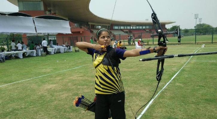 Premila at an archery tournament