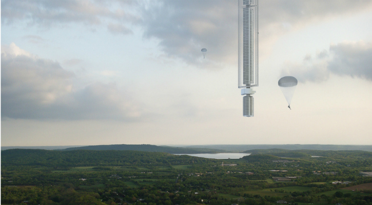 Concept image of the Analemma Tower - Clouds Architecture Office