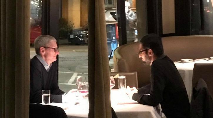 What Did Google CEO Sundar Pichai & Apple CEO Tim Cook Discuss Over Dinner?