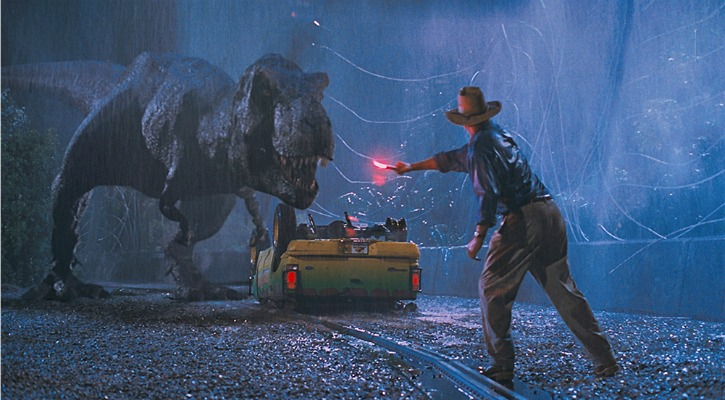 Dinosaurs including the T-rex from Jurassic Park were brought to life by ILM