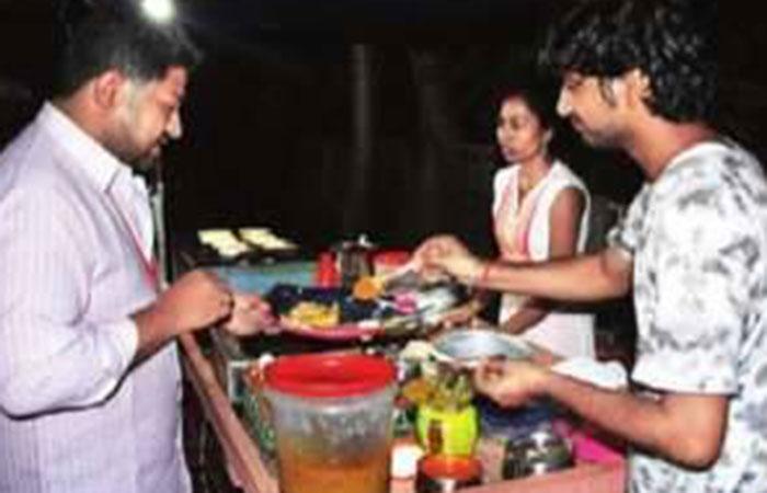 Sneha Limbgaomkar helps her husband run a small roadside eatery
