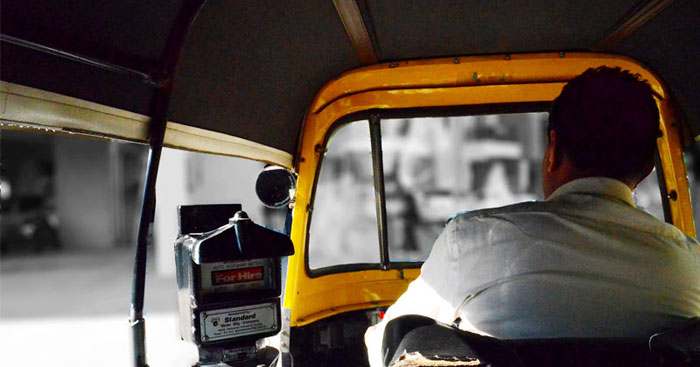Rajveer Upadhyay autorickshaw driver