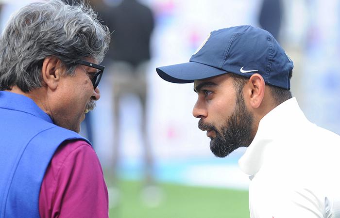Virat Kohli and Kapil Dev