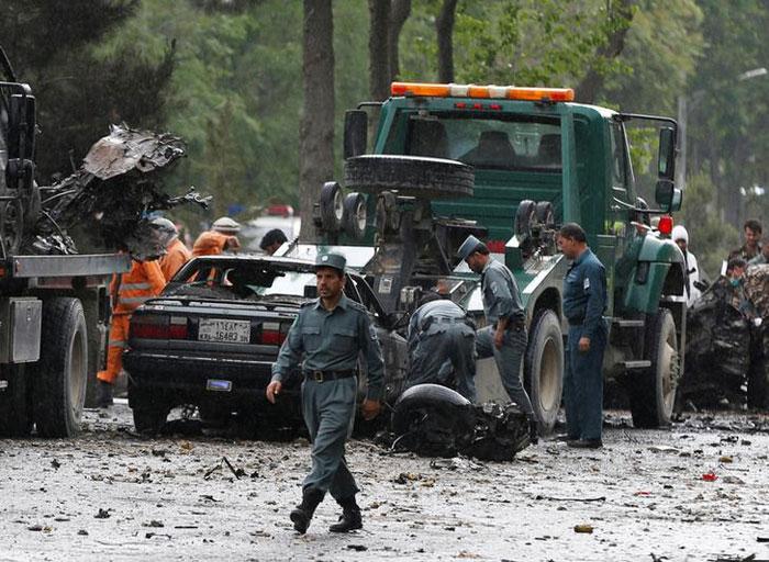 At Least 20 Afghan Policemen Killed In Taliban Ambushes