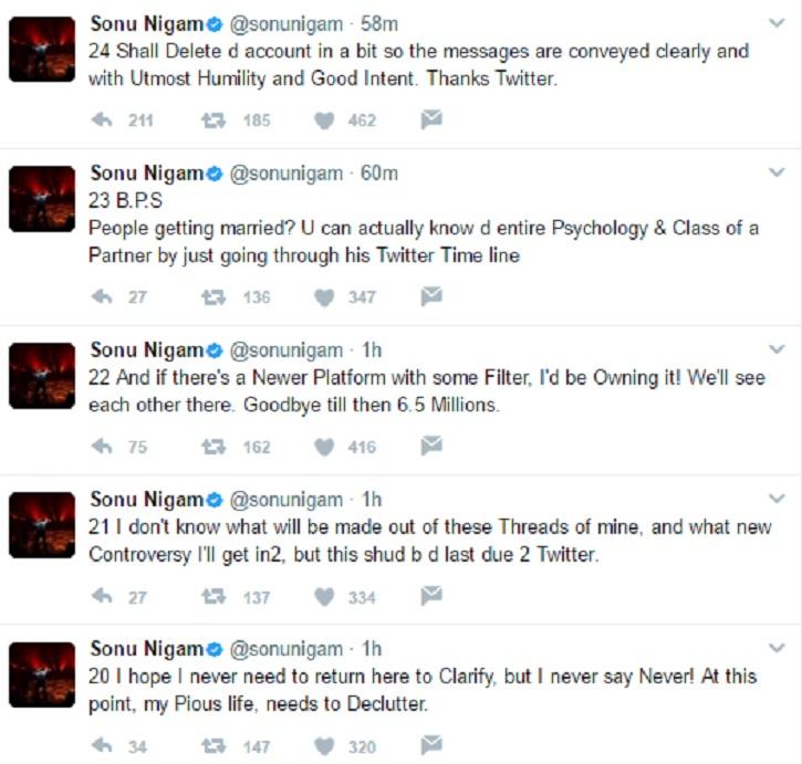 Sonu Nigam tweets