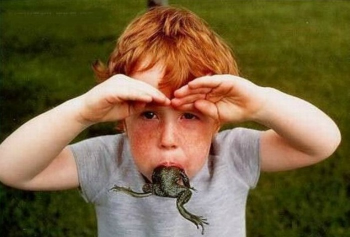 frog in your mouth