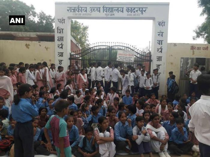 students in Kadarpur village of Gurugram