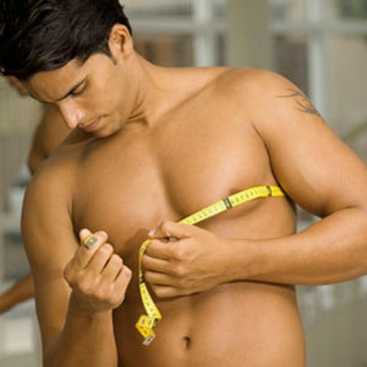 This is the key if you want to do it naturally as the tissue is mostly fat. A low-fat diet with exercises that target that area specifically can get your chest into shape