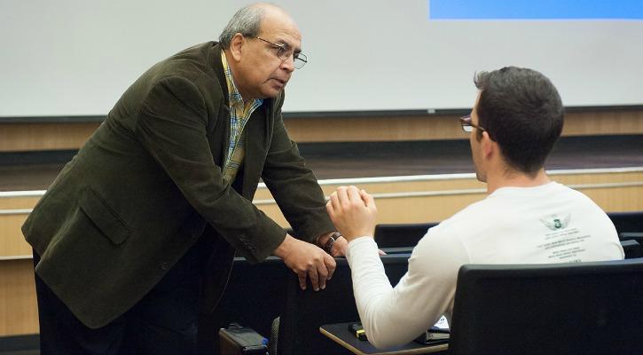 Ashok Goel in his classroom at Georgia Tech